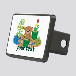 Personalized Garden Teddy Bear Hitch Cover