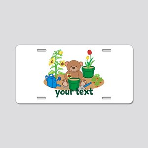 Personalized Garden Teddy Bear Aluminum License Pl