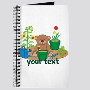 Personalized Garden Teddy Bear Journal