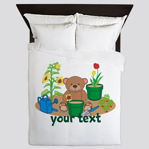 Personalized Garden Teddy Bear Queen Duvet