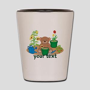 Personalized Garden Teddy Bear Shot Glass