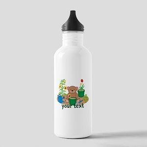 Personalized Garden Teddy Bear Water Bottle