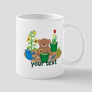 Personalized Garden Teddy Bear Mugs