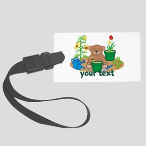 Personalized Garden Teddy Bear Luggage Tag