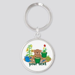 Personalized Garden Teddy Bear Keychains