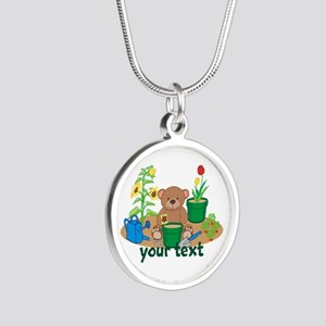 Personalized Garden Teddy Bear Necklaces