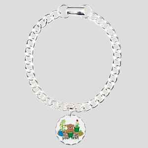 Personalized Garden Teddy Bear Bracelet