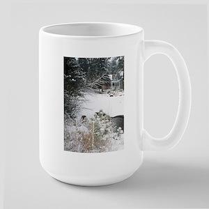 Big Thompson River Snow: Large Mug
