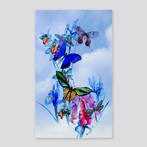 Take Flight! Butterfly Orchid Art 3'x5' Area Rug