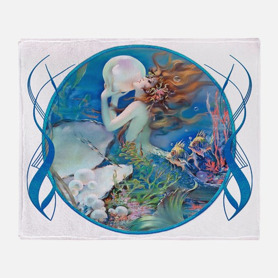 Clive Sensual Pearl Mermaid Throw Blanket