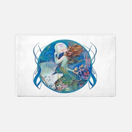 Clive Sensual Pearl Mermaid 3'X5' Area Rug