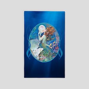 Clive Sensual Pearl Mermaid Vert. 3'X5' Area Rug