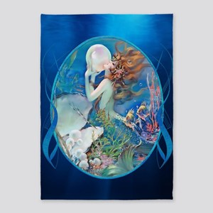 Clive Sensual Pearl Mermaid 5'X7'area Rug