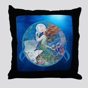 Clive Sensual Pearl Mermaid Throw Pillow