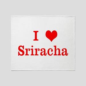 sriracha love Throw Blanket