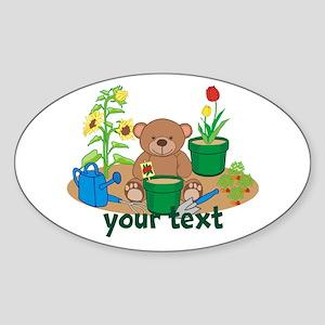 Personalized Garden Teddy Bear Sticker