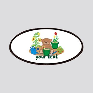 Personalized Garden Teddy Bear Patches