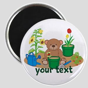 Personalized Garden Teddy Bear Magnets