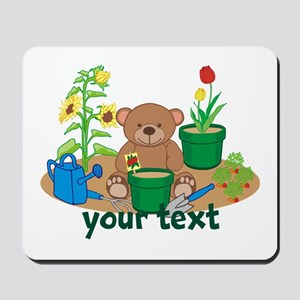 Personalized Garden Teddy Bear Mousepad