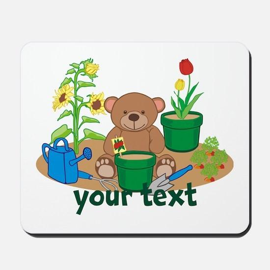 Personalized Garden Teddy Bear Mousepad