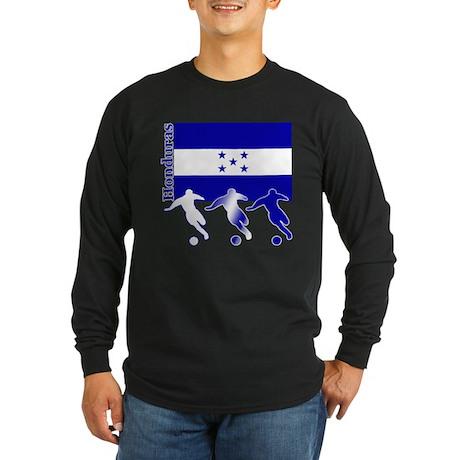 Honduras Soccer Long Sleeve Dark T-Shirt