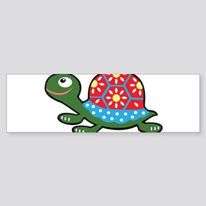Retro Turtle Bumper Sticker