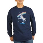 Rainbow Unicorn Long Sleeve Dark T-Shirt