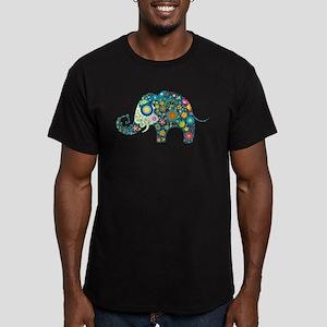 Colorful Retro Floral Elephant T-Shirt