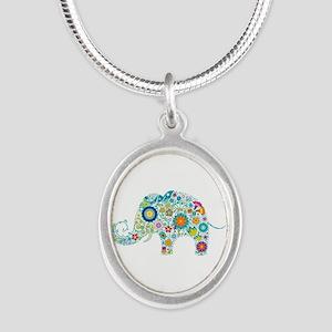 Colorful Retro Floral Elephant Necklaces
