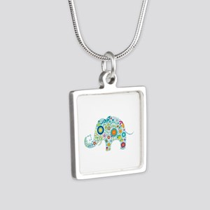 Colorful Retro Floral Elephant Necklaces