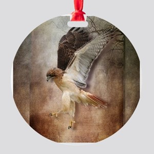 Evening Hawk Round Ornament