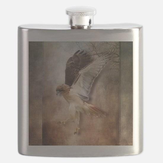 Evening Hawk Flask