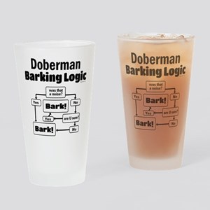 Doberman logic Drinking Glass