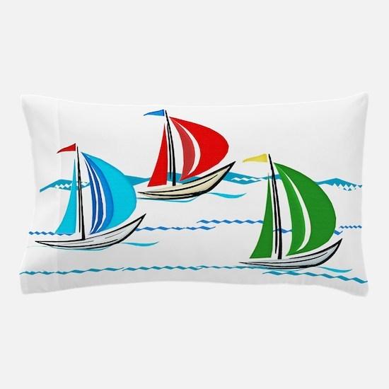 Funny Sailboats Pillow Case