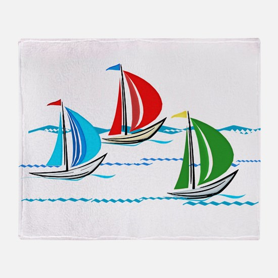Cute Sailing Throw Blanket