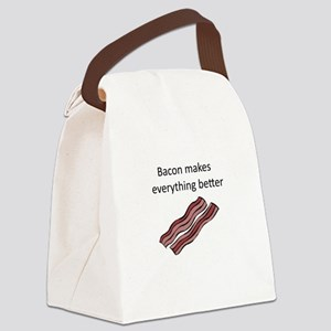 bacon makes everything better Canvas Lunch Bag