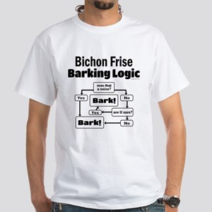 Bichon Frise Logic White T-Shirt
