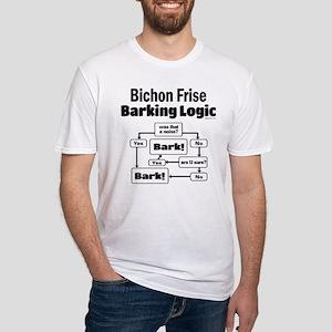 Bichon Frise Logic Fitted T-Shirt