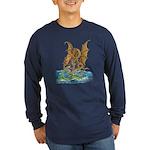 Dragon Battle Long Sleeve Dark T-Shirt