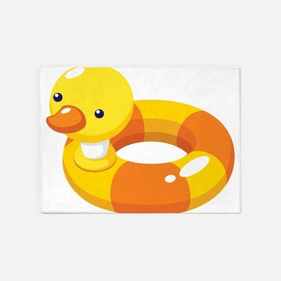 Duck Floatie 5'x7'Area Rug