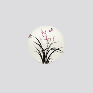 Chinese Orchids Mini Button