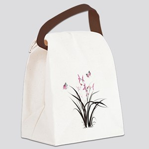 Chinese Orchids Canvas Lunch Bag