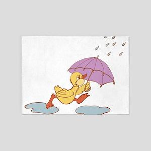 Duck in Rain 5'x7'Area Rug
