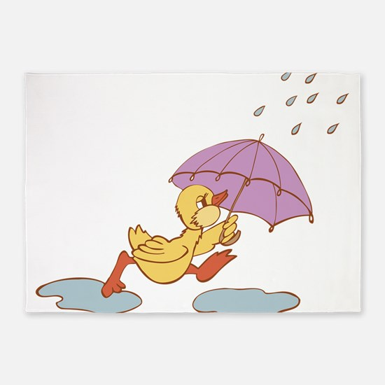 Duck in Rain 5'x7'Area Rug