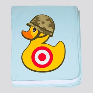 Army Duck baby blanket