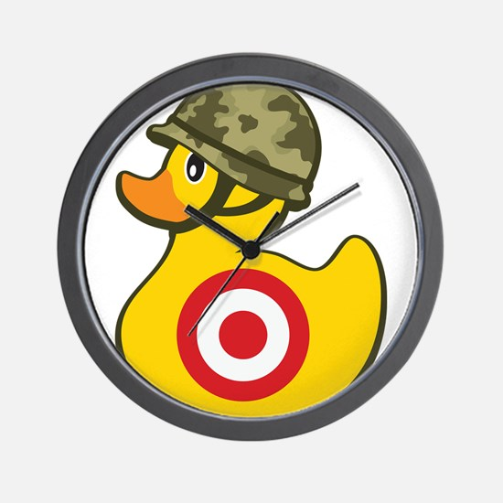 Army Duck Wall Clock
