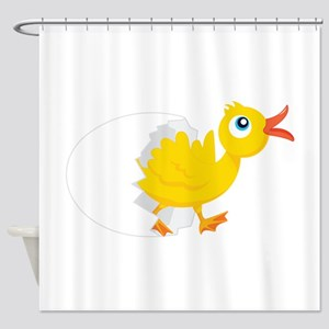 Duck in Egg Shower Curtain