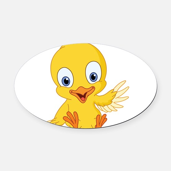 Cartoon Duck-2 Oval Car Magnet