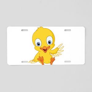Cartoon Duck-2 Aluminum License Plate