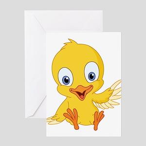 Cartoon Duck-2 Greeting Cards